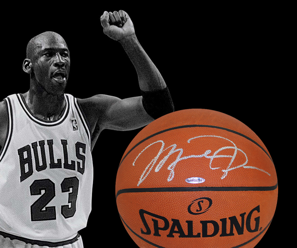 new concept 379b7 9d869 BidAid - BidAid - Auctions - Michael Jordan Signed Basketball